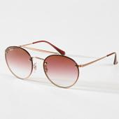 /achat-lunettes-de-soleil/ray-ban-lunettes-de-soleil-round-double-bridge-3614n-dore-rose-180790.html