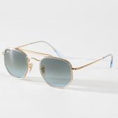 /achat-lunettes-de-soleil/ray-ban-lunettes-de-soleil-marshal-ii-3648-dore-bleu-marine-180797.html