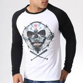 /achat-t-shirts-manches-longues/25g-tee-shirt-manches-longues-raglan-skull-xxvg-blanc-noir-180902.html