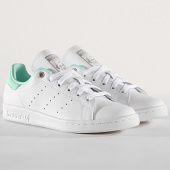 /achat-baskets-basses/adidas-baskets-femme-stan-smith-g27908-footwear-white-silver-metallic-clear-mint-180836.html