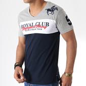 /achat-t-shirts/geographical-norway-tee-shirt-col-v-jice-bleu-marine-gris-blanc-180880.html