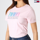 /achat-t-shirts/tommy-hilfiger-jeans-tee-shirt-femme-summer-multicolor-6699-rose-180861.html
