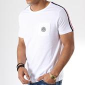 /achat-t-shirts-poche/la-maison-blaggio-tee-shirt-poche-avec-bandes-miljeli-blanc-181122.html