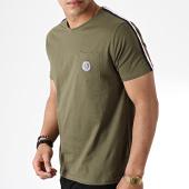/achat-t-shirts-poche/la-maison-blaggio-tee-shirt-poche-avec-bandes-miljeli-vert-kaki-181125.html
