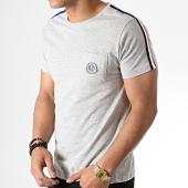 /achat-t-shirts-poche/la-maison-blaggio-tee-shirt-poche-avec-bandes-miljeli-gris-chine-181127.html