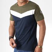 /achat-t-shirts/la-maison-blaggio-tee-shirt-metoli-bleu-marine-vert-kaki-181132.html