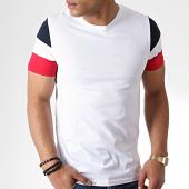 /achat-t-shirts/lbo-tee-shirt-manches-tricolore-bleu-blanc-rouge-731-blanc-181046.html