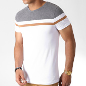 /achat-t-shirts/lbo-tee-shirt-tricolore-727-anthracite-blanc-camel-181051.html