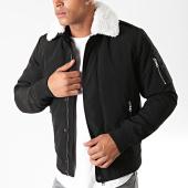/achat-vestes/lbo-blouson-col-mouton-premium-noir-col-blanc-181179.html