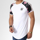 /achat-t-shirts-longs-oversize/siksilk-tee-shirt-oversize-avec-bandes-oil-paint-13744-blanc-floral-181094.html