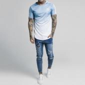 /achat-t-shirts-longs-oversize/siksilk-tee-shirt-oversize-avec-bandes-fade-tape-14286-bleu-clair-degrade-blanc-181096.html