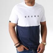 /achat-t-shirts/wrung-tee-shirt-slash-blanc-bleu-marine-180998.html
