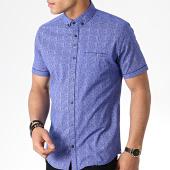 /achat-chemises-manches-courtes/black-needle-chemise-manches-courtes-y-3393-bleu-roi-181471.html