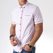 /achat-chemises-manches-courtes/black-needle-chemise-manches-courtes-y-3393-blanc-rouge-181473.html