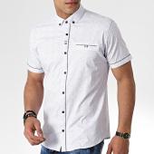 /achat-chemises-manches-courtes/black-needle-chemise-manches-courtes-y-3393-blanc-gris-181477.html