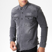 /achat-chemises-manches-longues/uniplay-chemise-jean-manches-longues-040-gris-181566.html