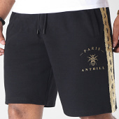 /achat-shorts-jogging/anthill-short-jogging-avec-bandes-tape-noir-dore-181647.html