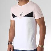 /achat-t-shirts/final-club-tee-shirt-tricolore-avec-broderie-247-noir-blanc-rose-181873.html