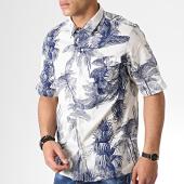 /achat-chemises-manches-courtes/g-star-chemise-manches-courtes-floral-xpo-straight-service-d13104-b678-ecru-bleu-marine-181666.html