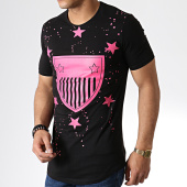 /achat-t-shirts-longs-oversize/ikao-tee-shirt-oversize-f423-noir-rose-181831.html