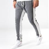 /achat-pantalons-joggings/ikao-pantalon-jogging-a-bandes-f565-gris-anthracite-chine-181836.html