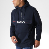 /achat-sweats-capuche/nasa-sweat-outdoor-col-zippe-worm-logo-bleu-marine-181687.html