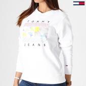 /achat-sweats-col-rond-crewneck/tommy-hilfiger-jeans-sweat-crewneck-femme-summer-logo-6696-blanc-181658.html