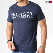 /achat-t-shirts/tommy-hilfiger-jeans-tee-shirt-logo-1172-bleu-marine-181869.html