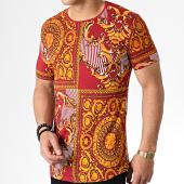 /achat-t-shirts-longs-oversize/classic-series-tee-shirt-oversize-renaissance-hnf001-rouge-fonce-dore-orange-181913.html