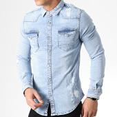 /achat-chemises-manches-longues/denim-lab-chemise-jean-manches-longues-13765-bleu-clair-181968.html