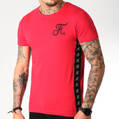 /achat-t-shirts/final-club-tee-shirt-avec-bandes-et-broderie-231-rouge-182098.html