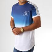 /achat-t-shirts-longs-oversize/final-club-tee-shirt-oversize-degrade-avec-bandes-et-broderie-223-bleu-et-blanc-182113.html