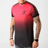 /achat-t-shirts-longs-oversize/final-club-tee-shirt-oversize-degrade-avec-bandes-et-broderie-225-rouge-et-noir-182115.html