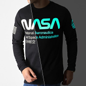 /achat-t-shirts-manches-longues/nasa-tee-shirt-manches-longues-glow-in-the-dark-noir-181978.html