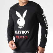 /achat-t-shirts-manches-longues/playboy-tee-shirt-manches-longues-playboy-japan-noir-181951.html