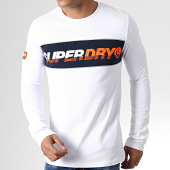 /achat-t-shirts-manches-longues/superdry-tee-shirt-manches-longues-applique-new-house-m60902tu-blanc-181895.html