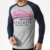 /achat-t-shirts-manches-longues/superdry-tee-shirt-manches-longues-vintage-authentic-raglan-m60912tu-gris-chine-bleu-marine-rose-181946.html