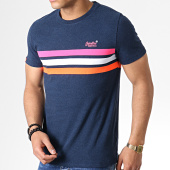 /achat-t-shirts/superdry-tee-shirt-orange-label-fluro-chestband-m10166ru-bleu-marine-181995.html
