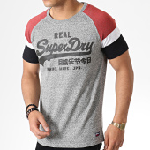 /achat-t-shirts/superdry-tee-shirt-raglan-vintage-logo-first-m10152tu-gris-chine-bordeaux-182007.html