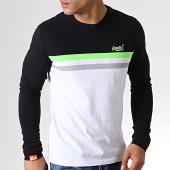 /achat-t-shirts-manches-longues/superdry-tee-shirt-manches-longues-orange-label-neon-stripe-m60904eu-noir-blanc-182030.html