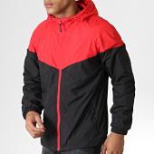 /achat-vestes/urban-classics-veste-zippee-capuche-tb2107-rouge-noir-182024.html
