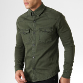 /achat-chemises-manches-longues/zayne-paris-chemise-jean-manches-longues-2935-vert-kaki-181926.html