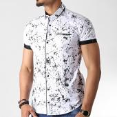 /achat-chemises-manches-courtes/black-needle-chemise-manches-courtes-y-3398-blanc-noir-182231.html