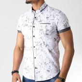 /achat-chemises-manches-courtes/black-needle-chemise-manches-courtes-y-3398-blanc-gris-182233.html
