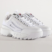 /achat-baskets-basses/fila-baskets-femme-disruptor-ii-patches-5fm00538-white-182422.html