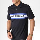 /achat-polos-manches-courtes/calvin-klein-polo-manches-courtes-chest-stripe-logo-2540-noir-blanc-bleu-182550.html