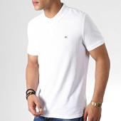 /achat-polos-manches-courtes/calvin-klein-polo-manches-courtes-badge-pima-cotton-2761-blanc-182556.html