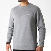 /achat-sweats-col-rond-crewneck/calvin-klein-sweat-crewneck-chest-badge-2771-gris-chine-182560.html
