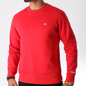 /achat-sweats-col-rond-crewneck/calvin-klein-sweat-crewneck-chest-badge-2771-rouge-182564.html