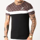 /achat-t-shirts/final-club-tee-shirt-damier-tricolore-avec-broderie-253-blanc-noir-marron-182594.html